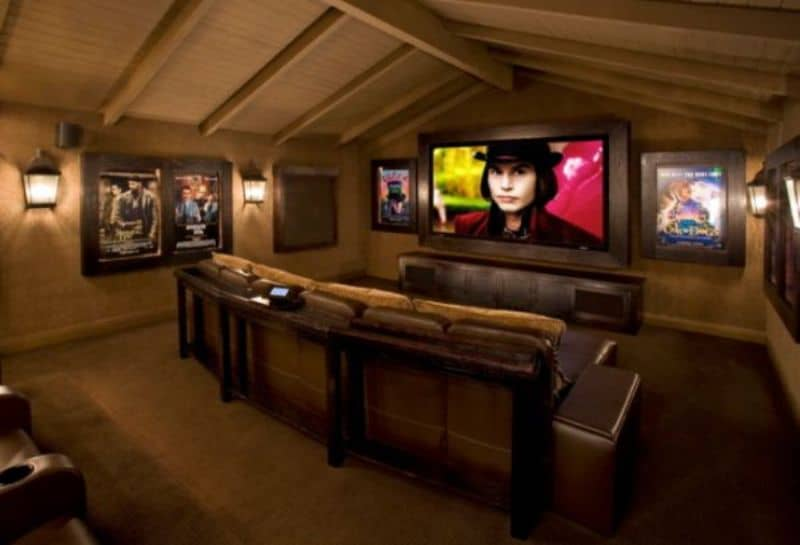 home cinema decoration with posters architecture decorating ideas