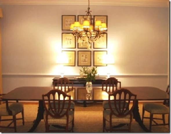 Dining room wall decor part iii architecture for Decorating ideas large dining room wall