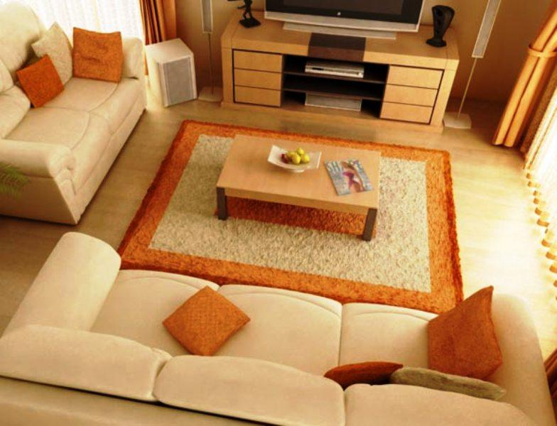Organize your living room for Organizing living room furniture