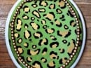 Chic Style Green Tiger Skin Toilet Seat Covers Motifs for Fashion feel