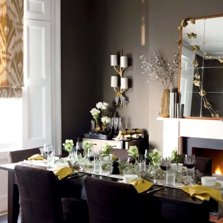 Dining room christmas decor 973ideas architecture for Dining room decorating ideas 2012