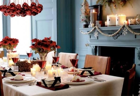 Dining Room Christmas Decorating Architecture Decorating