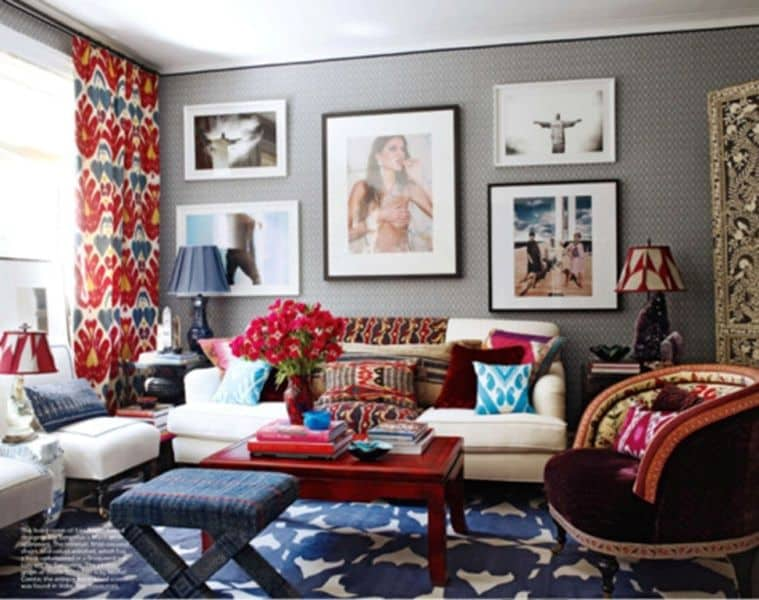 Exotic ikat pattern in interior design183ideas for Interior decorating themes