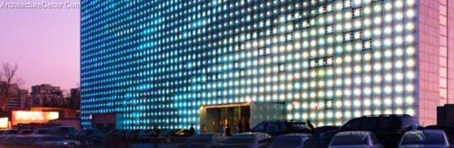 Green Architecture Greenpix Zero Energy Media Wall Lights Up Beijing Architecture Decorating Ideas