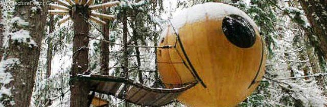 Green Architecture-Retreat to an Ewok Eco Sphere in the Trees