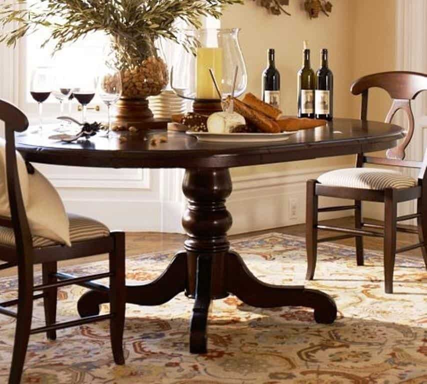Dining Table Harvest Pedestal Dining Table