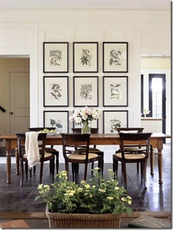 Dining Room Wall Decor Ideas Inspiration With Dining Room Wall Picture Frames Photos