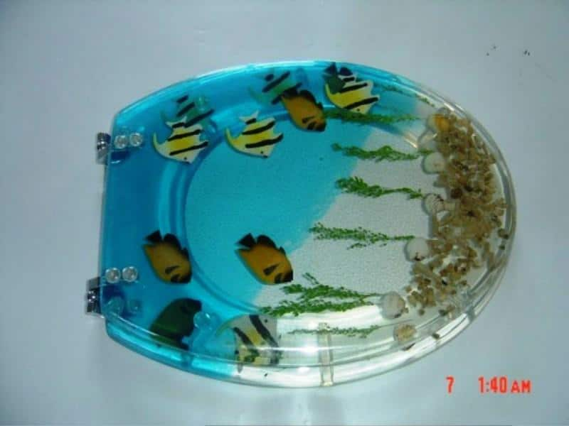 stunning Aquarium Theme Toilet Seat Covers for Cheerful Bathroom Look