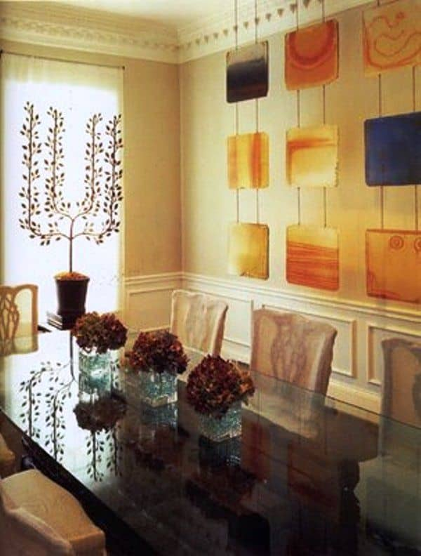 Ahangingcurtain dining room wall 442 decor part iii for Wall hanging ideas for dining room