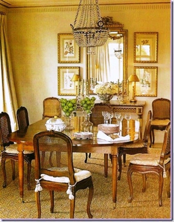 Dining room wall decor casual cottage for Decorating ideas for large dining room wall