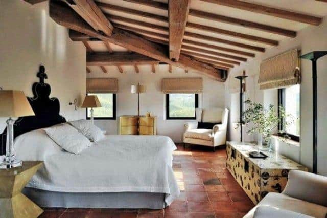 Luxury Italian Villa Rustic Bedroom