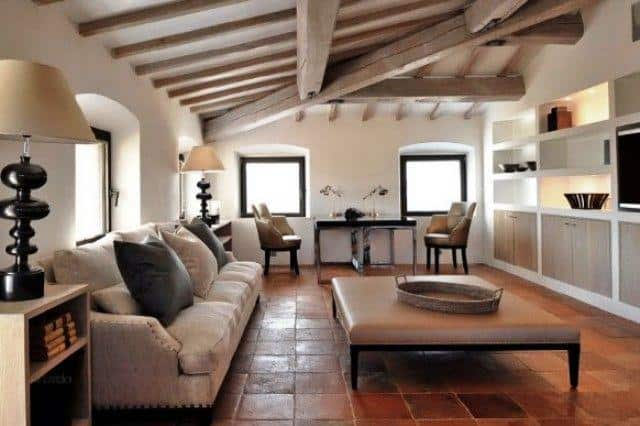 Luxury Italian Villa Rustic Italian Living Room