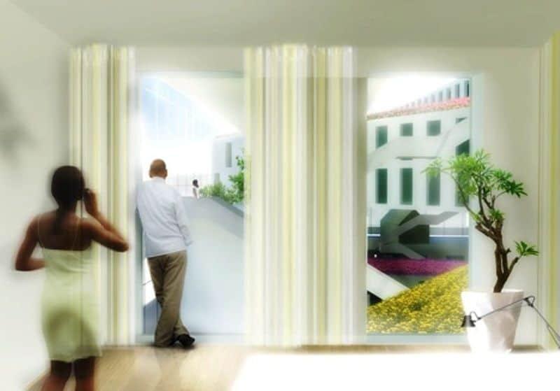 MVRDV Flower Bed Hotel Interior