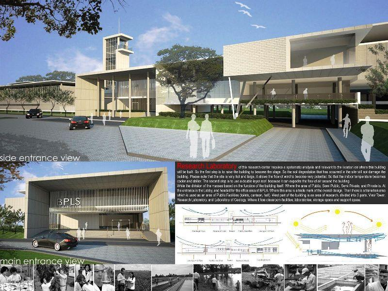 Master Plan Mud Volcano Research Center At Sidoarjo a472 3d Architectures on home bar plans