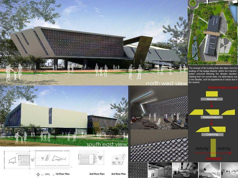 Master Plan Mud Volcano Research Center at Sidoarjo a477 3D