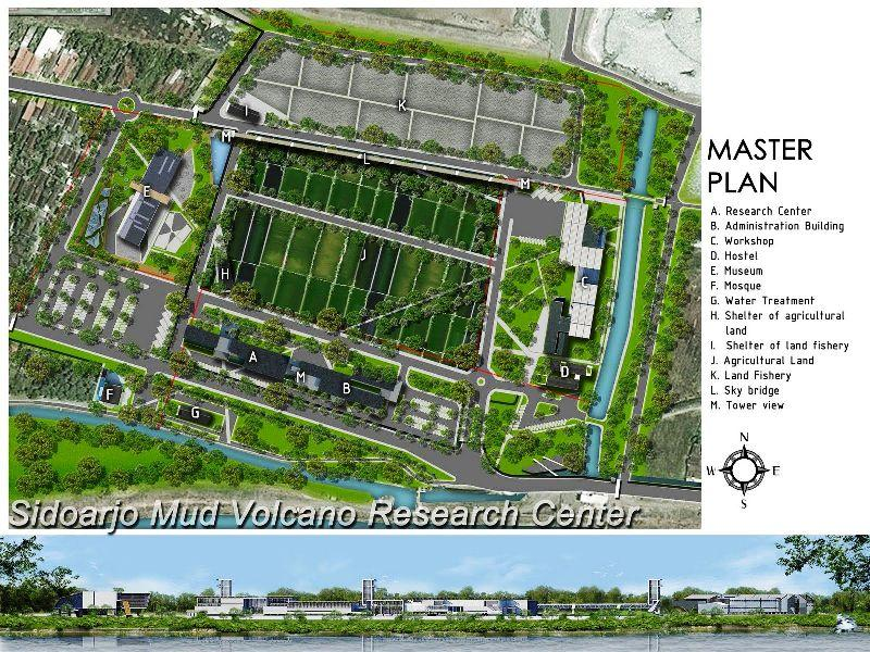 Master Plan Mud Volcano Research Center At Sidoarjo A478