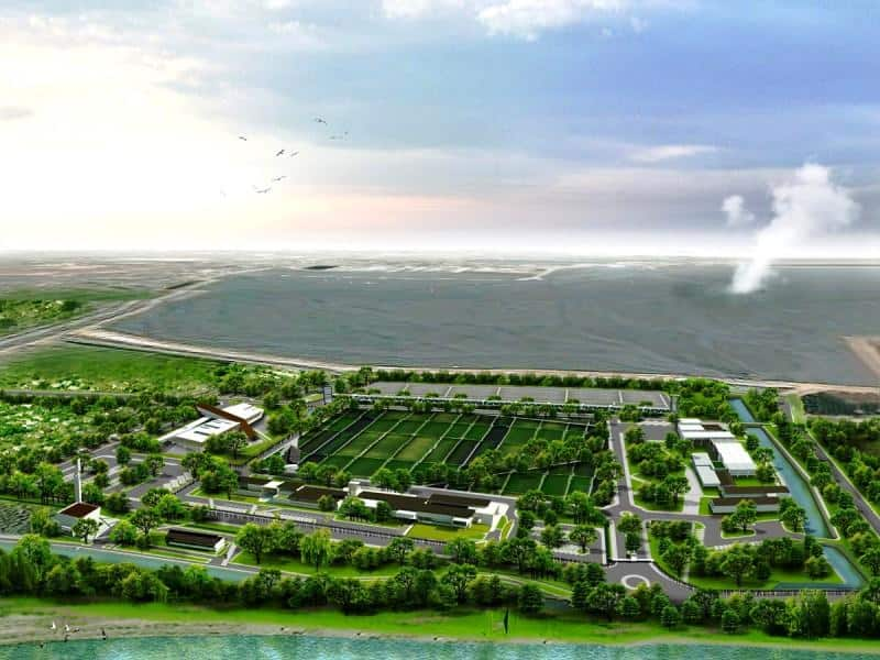 Mud Volcano Research Center at Sidoarjo-Bird eye view