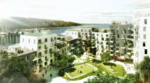 Residential Project at Aarhus Harbour-Green Mega Structures