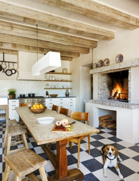 Country kitchen ideas mixing of modern and traditional for Photos de cuisine