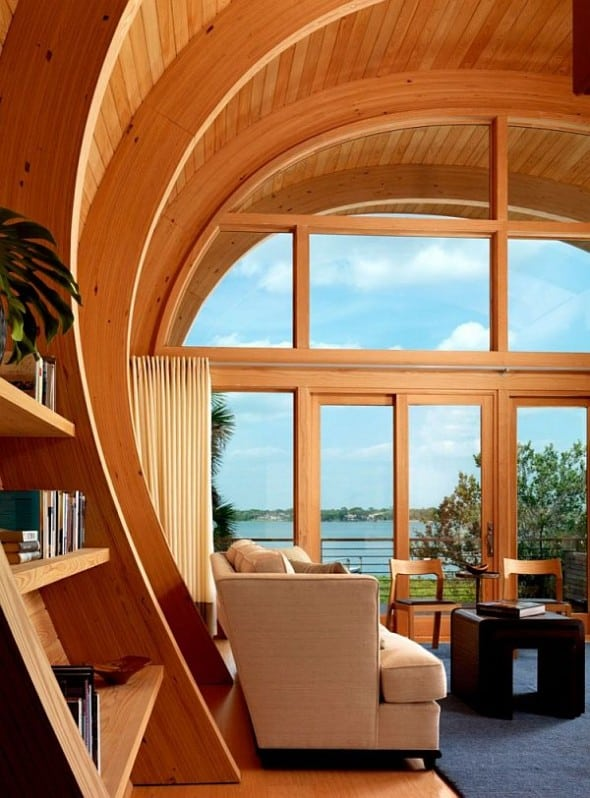 A relax room to enjoy the amazing natural view