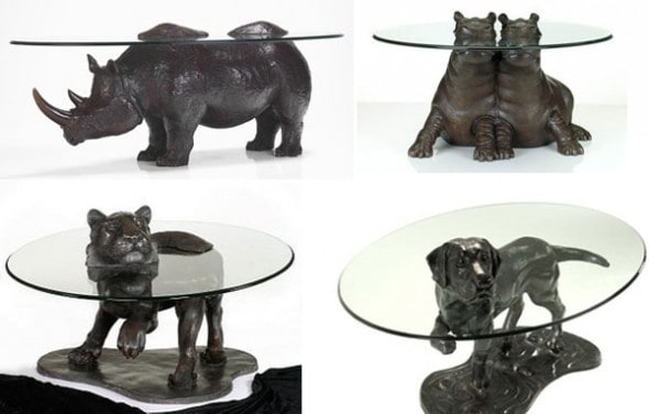 Beloved animal coffee table which is coming out from the glass