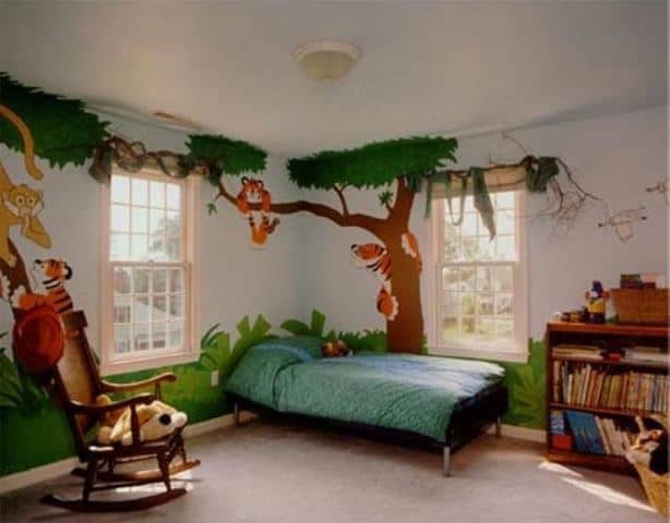 decoration kids room with jungle theme - How To Decorate Kids Bedroom