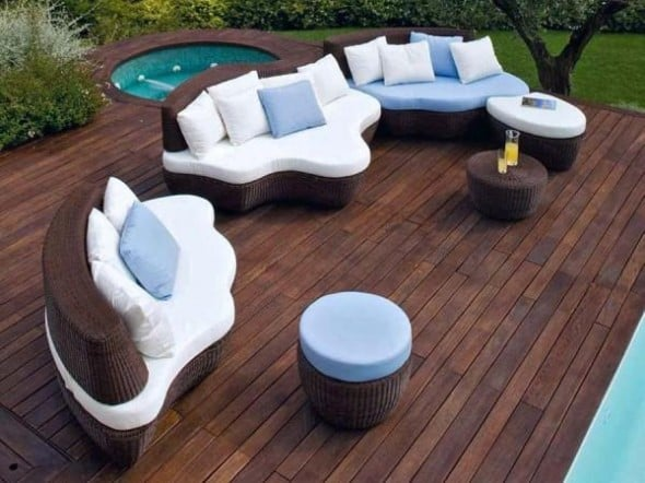 Modern Garden Furniture with Contemporary Patio