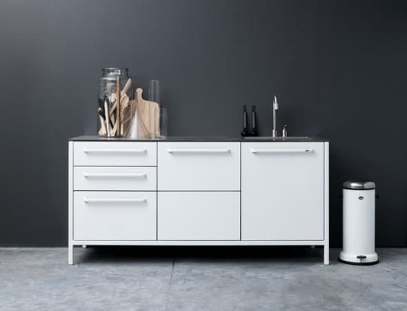 White Vipp Kitchen cupboard