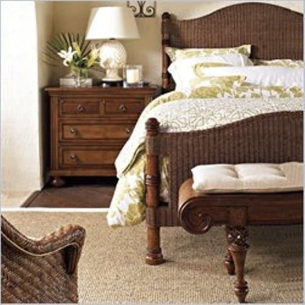 British Colonial Bedrrom With Antique Lamp And Nightstands Armoires Architecture Decorating Ideas