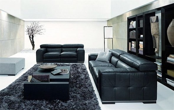 Using Black and White Color to Decorate Your Living Room