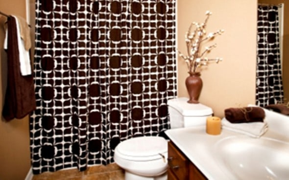 Bathroom design with safari style for Bathroom designs earth tones