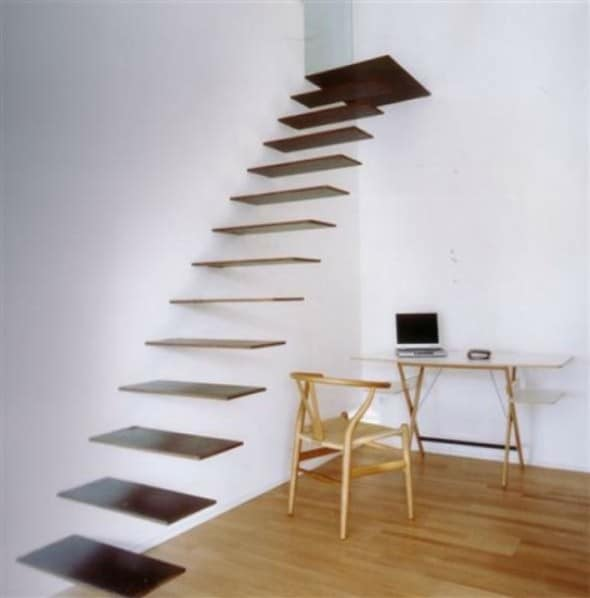 sculptrual floating staircase, designed by Jordivayreda Projectteam.