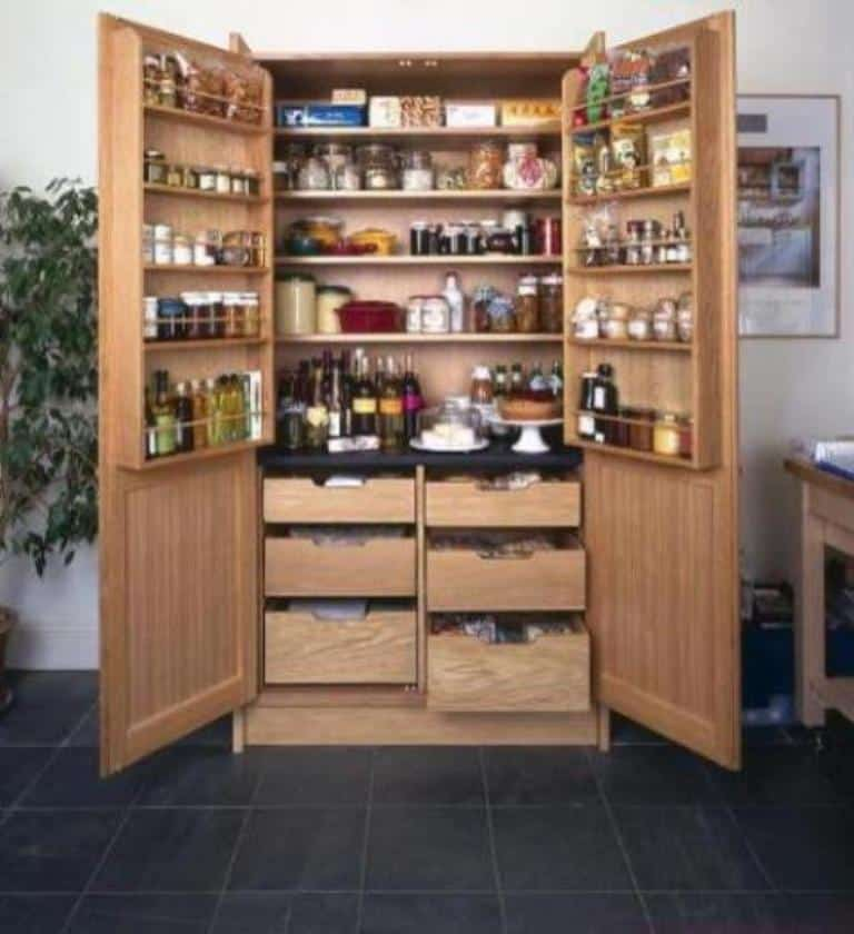wooden free standing pantry - Kitchen Pantries