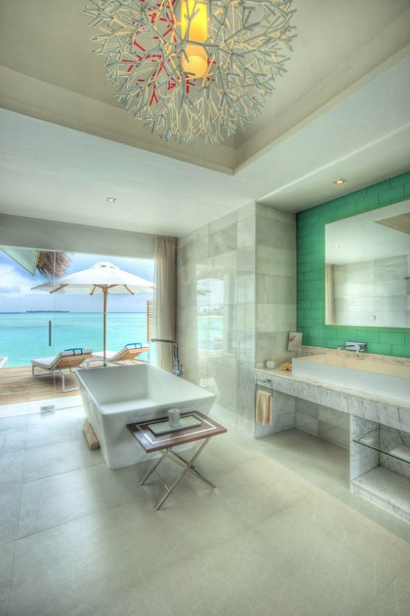 Bathroom Niyama Hotel in the Maldives