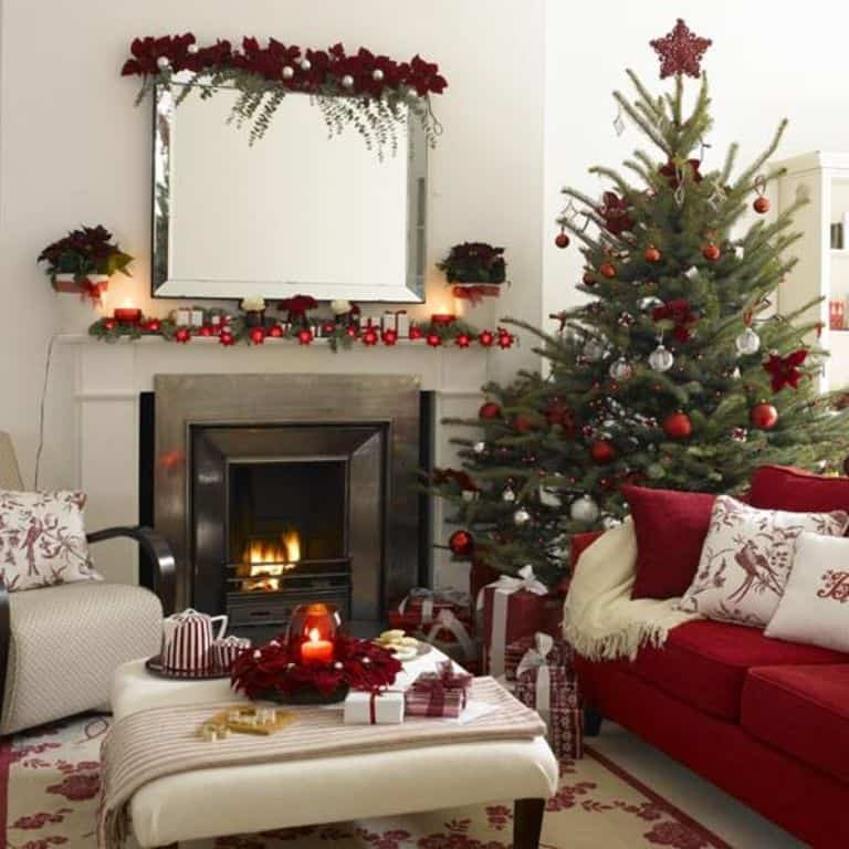 christmas home red decoration - Christmas Decorations For Your Room