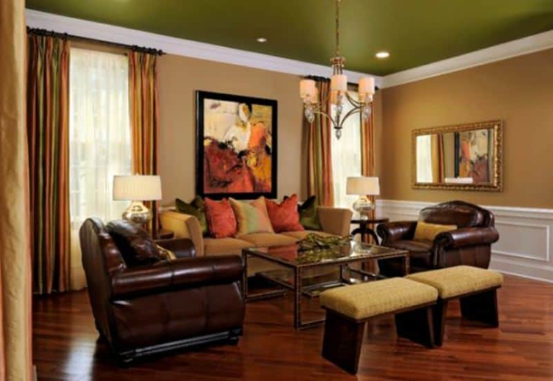Green Ceiling for Your Rooms