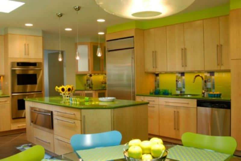 Green in the Kitchen for Your Rooms