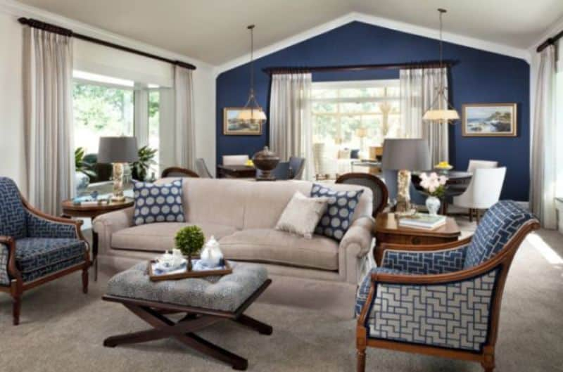Download Image Living Room With Blue Accent Wall Pc Android Iphone
