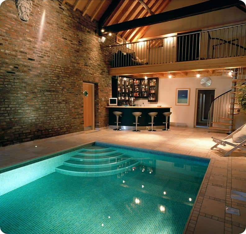 Pool with Attached Bar