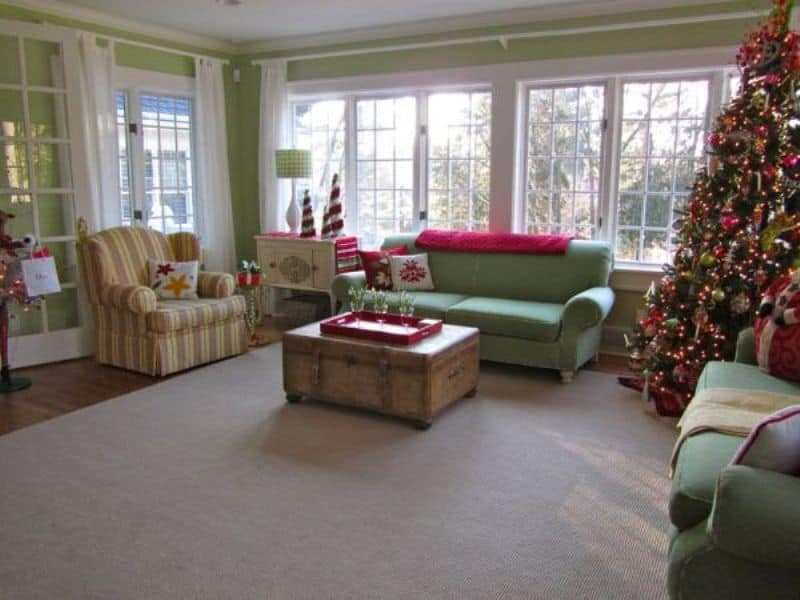 Room with Traditional Christmas Decor