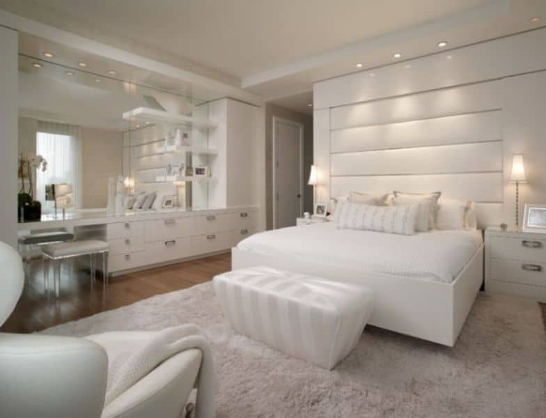 Marvelous Bedroom Wall Mirror White Design