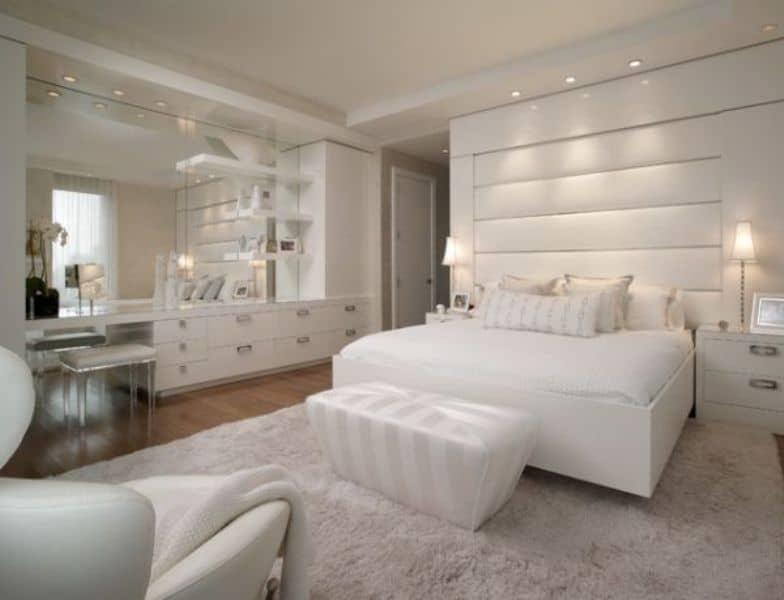 Bedroom Wall Mirror White Design Architecture Decorating