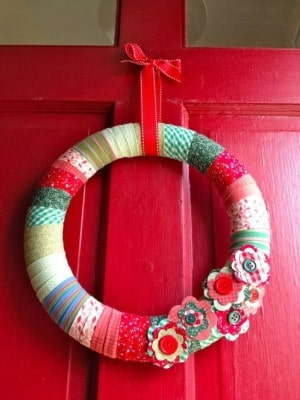 Red Christmas Wreath - Front Door Area