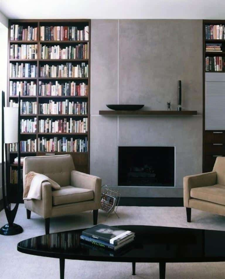 ArchitectureDecor - Minimalist Fireplaces Book Storage by Page Goolrick Architect - Simple Concept of Fireplace