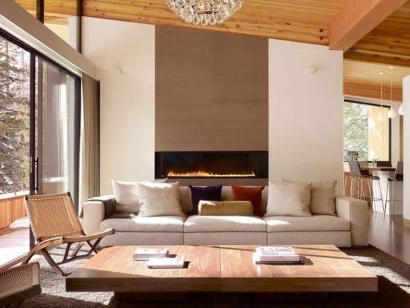 ArchitectureDecor - Sugar Bowl Sofas with Fireplace - Simple Concept of Fireplace