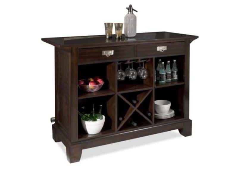 Minibar Interior Ideas - Wooden Unique Bar Set