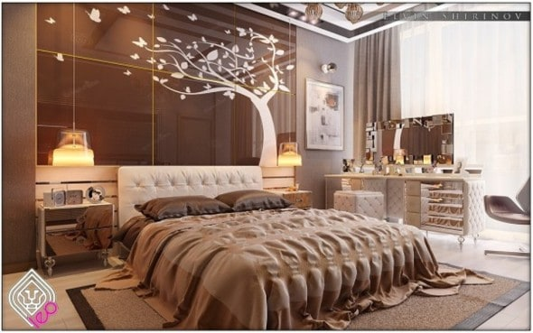 soft brown Luxury Bedrooms In Detail
