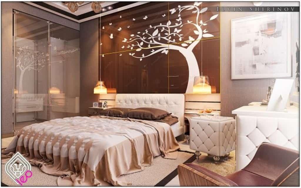 tree stencil Luxury Bedrooms In Detail